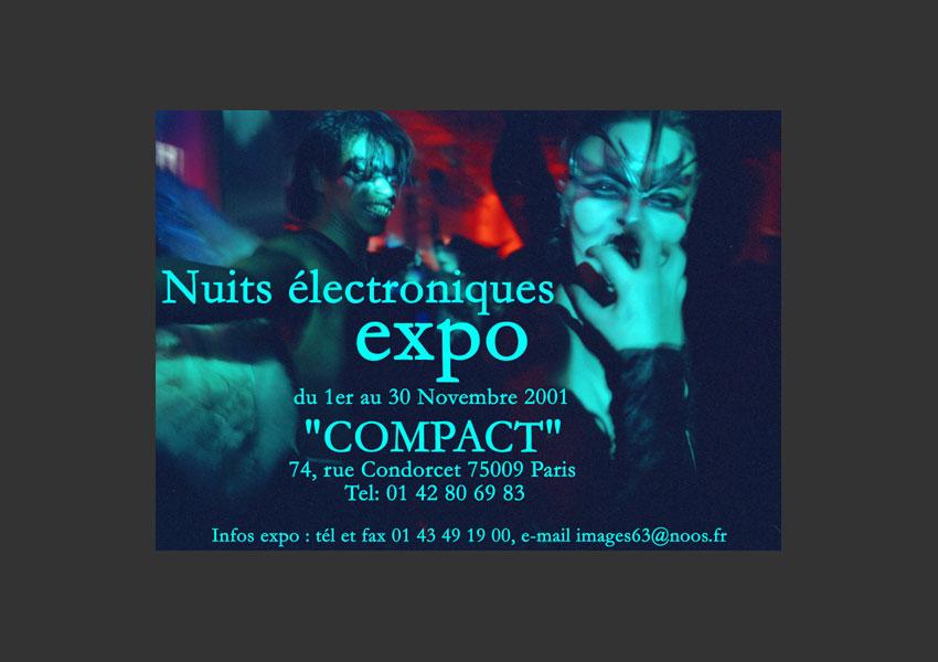 « Nuits électroniques » pour Bip Compact, Paris du 1er au 30 novembre 2001.