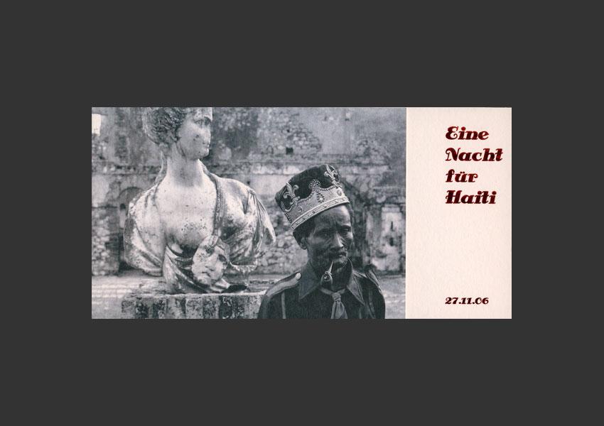 """""""Une nuit pour Haïti"""", diaporama, Galerie Westlicht Vienne Autriche, le 27 novembre 2006."""