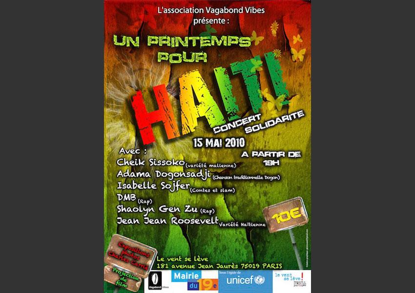 « Un Printemps pour Haïti » au Vent se lève, Paris mai 2010.