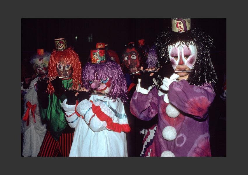 Carnaval de Bâle, Suisse février 1988.