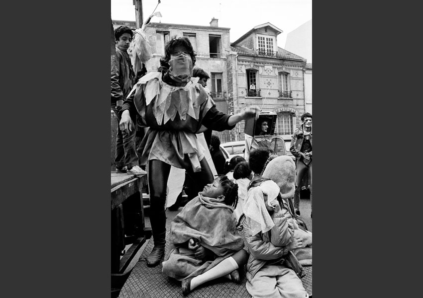 Carnaval Récup, initiative d'associations du 20 ème, Paris le 26 mars 1984.