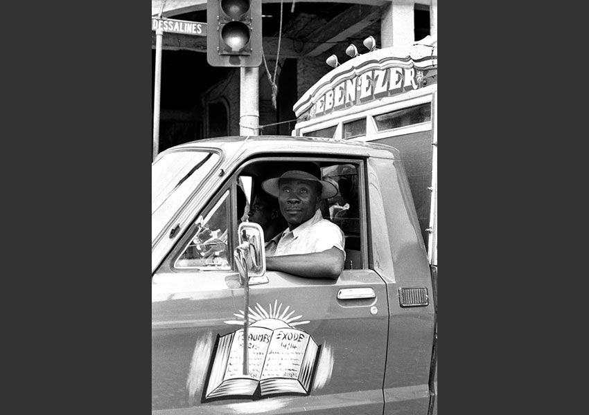 Tap-tap, bd Dessalines, Port-au-Prince, Haïti 1985.