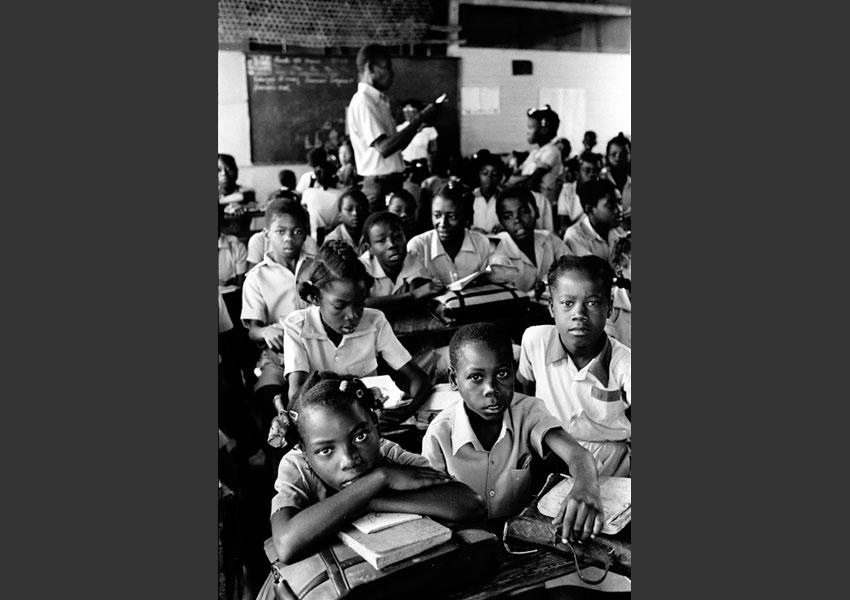 Ecole nationale mixte de Pestel, Haïti  janvier 1985.