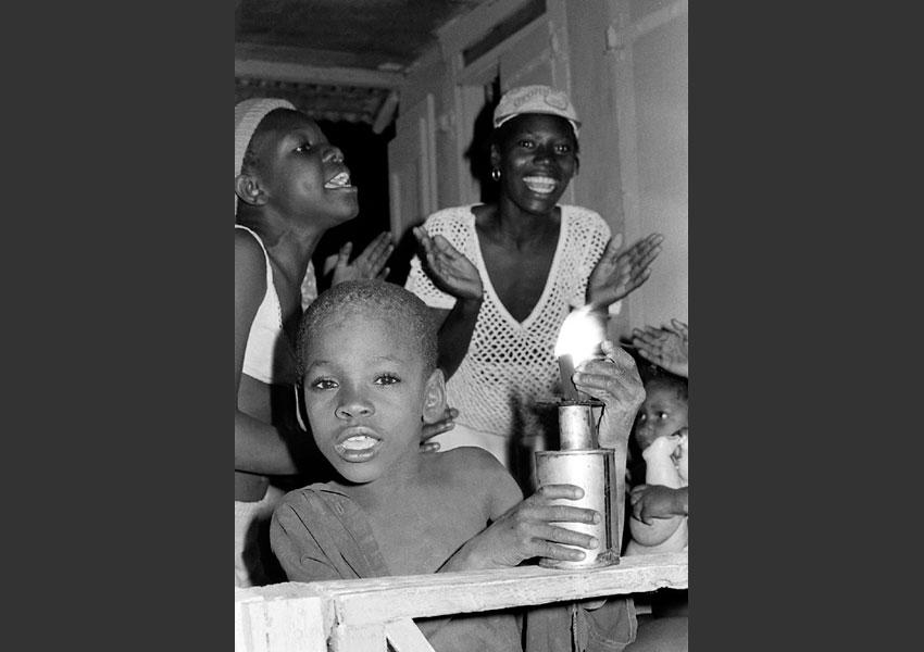 Fête familliale à Petit Gôave, Haïti 1985.