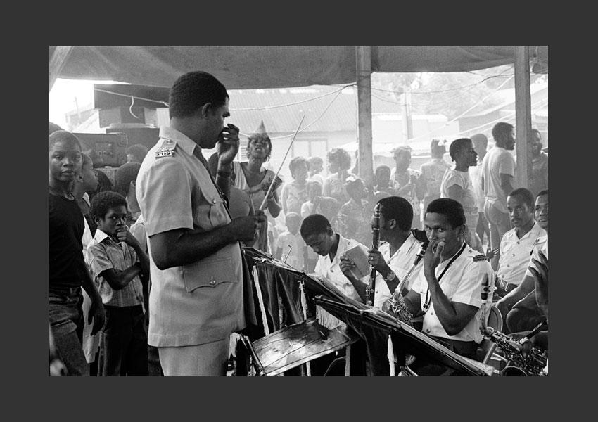 14 - Orchestre de la Police, Castries, Sainte Lucie août 1987.