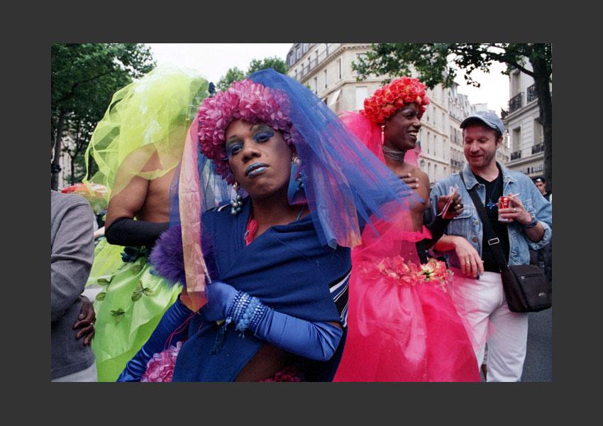 Gay et Lesbiennes Pride, Paris 22 juin 2000.