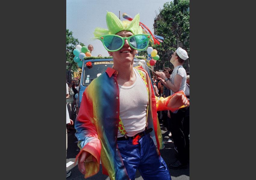 Gay et Lesbiennes Pride, Paris 22 juin 2001.