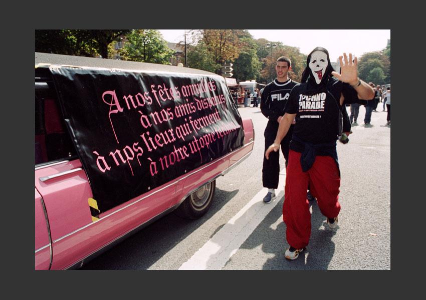 Technoparade, Port Royal, Paris le 13 septembre 2003.