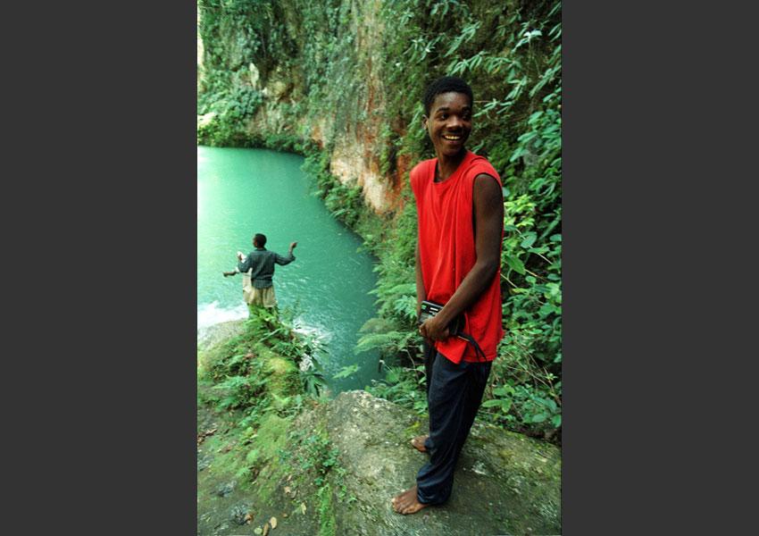 Bassin Bleu, Haïti février 2004.