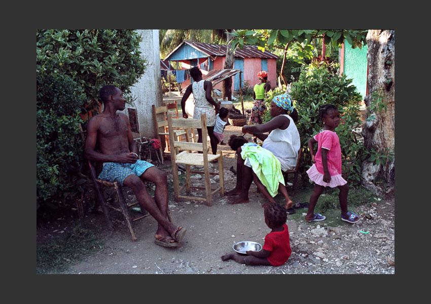 Hauts de Jacmel, pendant l'insurrection contre Aristide. Haïti mars 2004.
