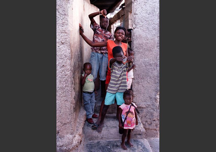 Bidonville de la Ravine à Pétionville, Haïti 2009.