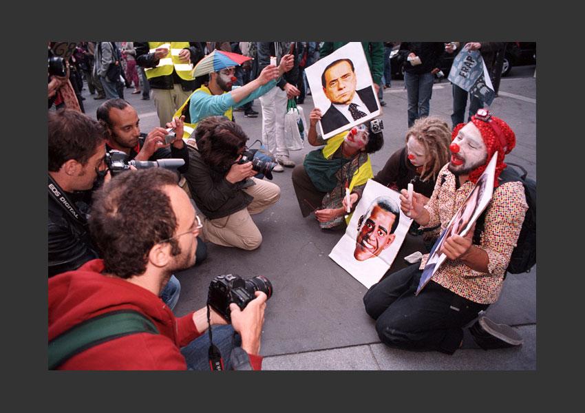 Manifestive des Altermondialistes anti-G8, de Belleville à Belleville, Paris le vendredi 27 mai 2011.